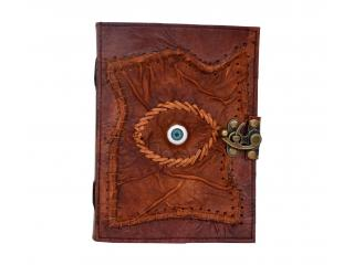 Brown Handmade Leather Eye Leather Dairy Note Book Blank Book Journal With C Lock Dairy